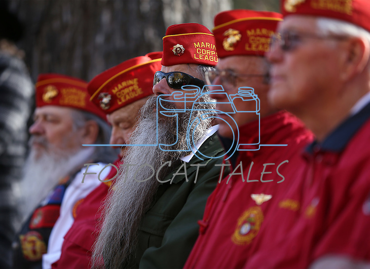 A group of veterans attend the Pearl Harbor 75th Commemoration at the U.S.S. Nevada memorial at the Capitol in Carson City, Nev. on Wednesday, Dec. 7, 2016. <br />Photo by Cathleen Allison/Nevada Photo Source
