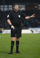 Referee Brett Huxtable during the game<br /> <br /> Photographer Ian Cook/CameraSport<br /> <br /> The EFL Sky Bet League One - Bristol Rovers v Blackpool - Saturday 15th February 2020 - Memorial Stadium - Bristol<br /> <br /> World Copyright © 2020 CameraSport. All rights reserved. 43 Linden Ave. Countesthorpe. Leicester. England. LE8 5PG - Tel: +44 (0) 116 277 4147 - admin@camerasport.com - www.camerasport.com