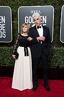 Katharine Ross and Sam Elliott attend the 76th Annual Golden Globe Awards at the Beverly Hilton in Beverly Hills, CA on Sunday, January 6, 2019<br /> <br /> *Editorial Use Only*<br /> CAP/PLF/HFPA<br /> Image supplied by Capital Pictures