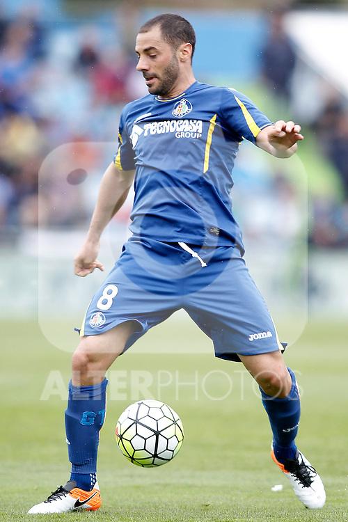 Getafe's Mehdi Lacen during La Liga match. April 16,2016. (ALTERPHOTOS/Acero)