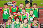 The Castlegregory team at the Kerry community games athlethics finals at an Riocht, Castleisland on Saturday..Front from left: Chloe Knox, Kerry Dowling, Eimear Dineen, Seamus Lyne..Middle row from left: Cosette Dowling, Masie Hall, Eimear O'Donoghue, Maura O'Sullivan,.Back row from left: Eoin O'Toole, Mike Lyne, William Goodwin, Fionn Culinane and Michael Scanlon.