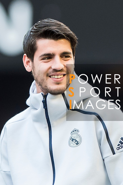 Alvaro Morata of Real Madrid in training prior to the La Liga match between Valencia CF and Real Madrid at the Estadio de Mestalla on 22 February 2017 in Valencia, Spain. Photo by Maria Jose Segovia Carmona / Power Sport Images