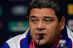 ENG - Newcastle upon Tyne, England, October 08: During the Media Conference at the Captains Run of Samoa on October 8, 2015 at St. James Park in Newcastle upon Tyne, England. (Photo by Dirk Markgraf / www.265-images.com) *** Local caption *** head coach of Samoa Stephen Betham