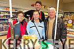 Breda Broderick, Joan Moriarty, Francis Moriarty, David Doherty enjoying the Garvey Castleisland food fayre on Friday