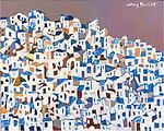Greece; Santorini<br /> 11x14x3 Acrylic on Canvas Original Painting<br /> $3,600