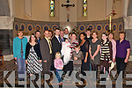 Christening: Parents John and Natasha Parker, Ballinclogher, Lixnaw,holding their daughter Linda, with godparents Marco Biasi and Isabelle Neyer and family and friends at Linda's christening in St. Michael's Church, Lixnaw on Sunday