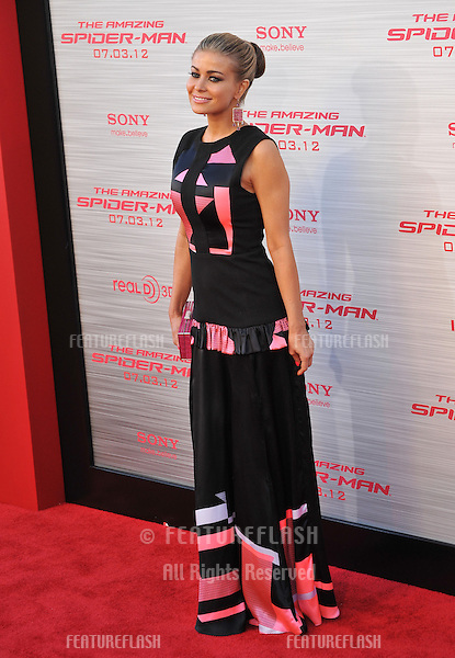 """Carmen Electra at the world premiere of """"The Amazing Spider-Man"""" at Regency Village Theatre, Westwood..June 29, 2012  Los Angeles, CA.Picture: Paul Smith / Featureflash"""