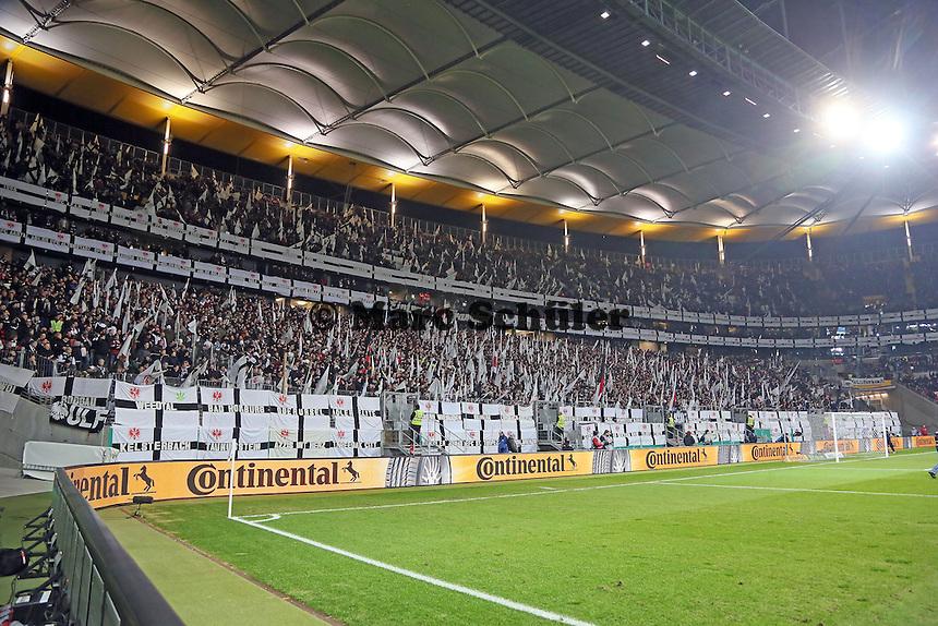 Fankurve der Eintracht Fans - Eintracht Frankfurt vs. Borussia Dortmund, DFB-Pokal Viertelfinale