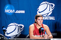 SPOKANE, WA - MARCH 25, 2011: Jeanette Pohlen  at the Stanford Women's Basketball, NCAA West Regionals press conference at Spokane Arena on March 25, 2011.