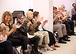 Barbara Siman and Charles Strouse with family during the Children's Theatre of Cincinnati presentation for composer Charles Strouse of 'Superman The Musical' at Ripley Grier Studios on June 8, 2018 in New York City.