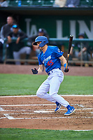 Joe Vranesh (45) of the Ogden Raptors bats against the Grand Junction Rockies at Lindquist Field on June 17, 2019 in Ogden, Utah. The Rockies defeated the Raptors 9-0. (Stephen Smith/Four Seam Images)