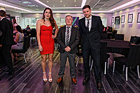 Pictured: Katy Hosford (L) with coach Ian Owen (C). Guests attending. Thursday 15 March 2018<br /> Re: Swansea City AFC Community Trust Celebration Event at the Liberty Stadium, Swansea, Wales, UK.