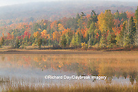 64776-01419 Pond and fall color Alger County Upper Peninsula Michigan