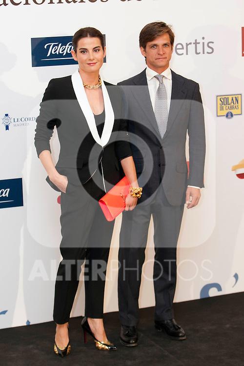 """King Felipe of Spain and Queen Letizia of Spain attend 'XIII EDICIÓN DE LOS PREMIOS INTERNACIONALES DE PERIODISMO 2013 Y CONMEMORACIÓN DEL 25º ANIVERSARIO DEL DIARIO """"EL MUNDO"""" at The Westin Palace Hotel. <br /> El Juli and Wife<br /> October 20, 2014. (ALTERPHOTOS/Emilio Cobos)"""