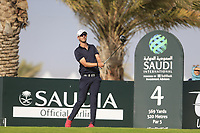 Robin Roussel (FRA) on the 4th tee during the 1st round of  the Saudi International powered by Softbank Investment Advisers, Royal Greens G&CC, King Abdullah Economic City,  Saudi Arabia. 30/01/2020<br /> Picture: Golffile | Fran Caffrey<br /> <br /> <br /> All photo usage must carry mandatory copyright credit (© Golffile | Fran Caffrey)