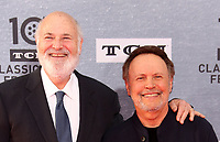 """Los Angeles CA Apr 11: Rob Reiner, Billy Crystal, arrive to 2019 TCM Classic Film Festival Opening Night Gala And 30th Anniversary Screening Of """"When Harry Met Sally"""", TCL Chinese Theatre, Los Angeles, USA on April 11, 2019 <br /> CAP/MPI/FS<br /> ©FS/MPI/Capital Pictures"""