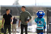 San Jose, CA - Saturday March 31, 2018: Joel Qwiberg, Danny Hoesen prior to a Major League Soccer (MLS) match between the San Jose Earthquakes and New York City FC at Avaya Stadium.