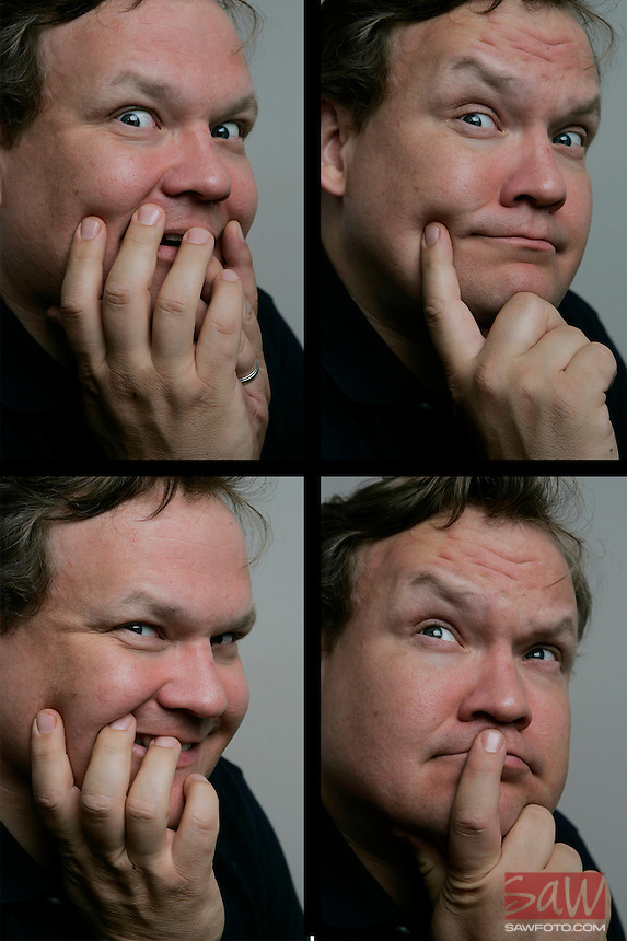 LOS ANGELES,CA - May 14,2009: Andy Richter, photographed May 15, 2009 in his Universal City office.  Richter reunites with Conan O'Brien, as his sidekick for the new version of the Tonight Show.