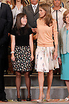 Princess Letizia of Spain attends an audience with a representation of the Iberoamerican Federation of Down Syndrome..September 11,2011. (ALTERPHOTOS/Acero)