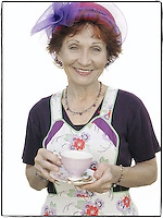 Slug: WK/Red Hatters.Date: 10-04-2004.Location:   Pink Bicycle Tea Room. Occoquan, VA.Photographer:  Mark Finkenstaedt FTWP.Caption:  Janet Arnett (cQ) Red hatter of the Femme Fatales of Occoquan.