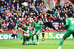 Leon Clarke of Sheffield Utd shoots during the Championship league match at Bramall Lane Stadium, Sheffield. Picture date 28th April, 2018. Picture credit should read: Harry Marshall/Sportimage