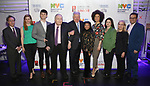 Phil Weinberg, Molly Griggs, Charlie Stemp, Philip J. Smith, Robert E. Wankel, Baayork Lee, Sasha Hutchings, Amy Dorfman Wine and Peter Avery backstage at The Fourth Annual High School Theatre Festival at The Shubert Theatre on March 19, 2018 in New York City.