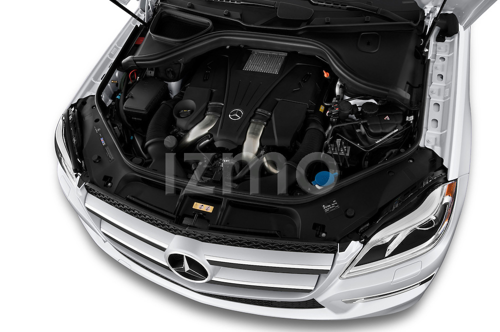 2013 Mercedes GL-Class GL450 Luxury SUV High angle engine detail Stock Photo