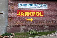 Directional arrow to Jarkpol offices. Tomaszow Mazowiecki Central Poland