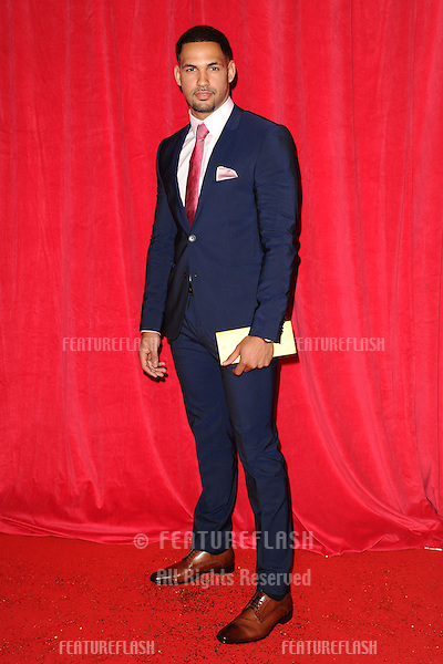Aaron Fontaine arriving for the 2014 British Soap Awards, at the Hackney Empire, London. 24/05/2014 Picture by: Steve Vas / Featureflash