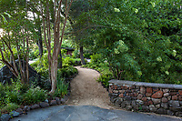 Shady path of decomposed granite at Marin Art and Garden Center