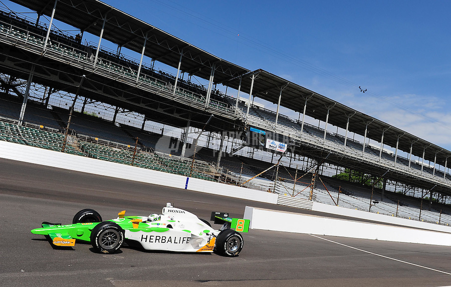 May 22, 2009; Indianapolis, IN, USA; IRL driver Townsend Bell during carb day prior to the Indianapolis 500 at the Indianapolis Motor Speedway. Mandatory Credit: Mark J. Rebilas-