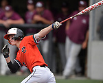 Edwardsville's Hayden Moore takes a big swing against Belleville West. Edwardsville defeated Belleville West in a semifinal of the Class 4A Bloomington boys baseball sectional which was played in O'Fallon, IL on Wednesday May 29, 2019.<br />