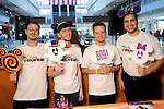 From left: Disney volunteers Michael Joyal, Trent Cira, Chance Campbell and Alfredo Duva  at the Little Galleria Halloween Spooktacular presented by MD Anderson Children's Cancer Hospital at The Galleria Sunday Oct. 30,2016.(Dave Rossman photo)