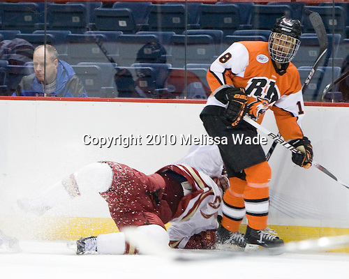 ?, Cameron Burt (RIT - 18) - The Rochester Institute of Technology (RIT) Tigers defeated the Denver University Pioneers 2-1 on Friday, March 26, 2010, in their NCAA East Regional semi-final at the Times Union Center in Albany, New York.