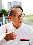 "September 19, 2017, Tokyo, Japan - Japanese automobile giant Toyota Motor president Akio Toyoda spaeks to reporters after he introduced Toyota's sports car series ""GR sports"" from Gazoo racing at Toyota's showroom Megaweb in Tokyo on Tuesday, September 19, 2017. GR series are sports tuned Toyota's vehicle and seven models are started to sell from September 19 through Toyota's shops.    (Photo by Yoshio Tsunoda/AFLO) LWX -ytd-"