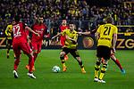 11.03.2018, Signal Iduna Park, Dortmund, GER, 1.FBL, Borussia Dortmund vs Eintracht Frankfurt, <br /> <br /> im Bild | picture shows:<br /> Christian Pulisic (Borussia Dortmund #22) setzt sich durch, <br /> <br /> <br /> Foto &copy; nordphoto / Rauch