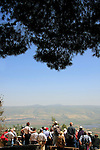 Israel, Upper Galilee, a view of the Hula Valley from Koach Fortress