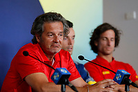 2nd January 2020; RAC Arena , Perth, Western Australia, Australia; ATP Cup Team Press conferences, Spain; Francisco Roig Captain of Spain speaks to the press  during the team press conferences - Editorial Use