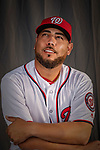 22 February 2019: Washington Nationals pitcher Vidal Nuno poses for his Photo Day portrait at the Ballpark of the Palm Beaches in West Palm Beach, Florida. Mandatory Credit: Ed Wolfstein Photo *** RAW (NEF) Image File Available ***