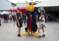 SAO PAULO, SP - 16.07.2016 - ANIME-FRIENDS - Fãs de todas as regiões do país se vestem como seus personagens prediletos e se divertem na última semana do Anime Friends neste sábado (16) no aeroporto Campo de Marte em São Paulo. O evento é considerado o maior festival de cultura pop japonesa da América Latina, contando com shows, concursos de cosplays, exposições geeks e muito mais.<br /> <br /> (Foto: Fabricio Bomjardim / Brazil Photo Press)