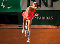 AGNIESZKA RADWANSKA (POL)<br /> <br /> TENNIS - FRENCH OPEN - ROLAND GARROS - ATP - WTA - ITF - GRAND SLAM - CHAMPIONSHIPS - PARIS - FRANCE - 2016  <br /> <br /> <br /> <br /> &copy; TENNIS PHOTO NETWORK
