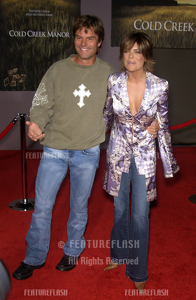 Actress LISA RINNA & husband actor HARRY HAMLIN at the world premiere, in Hollywood, of Cold Creek Manor..Sept 17, 2003