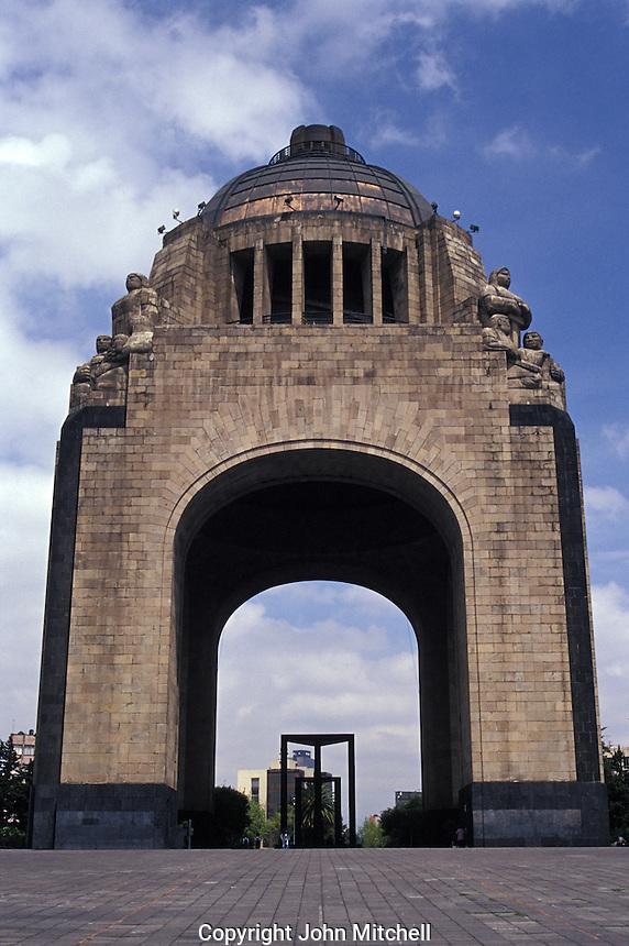 The Monumento a la Revolucion in the Plaza de la Republica in Mexico City. Many of Mexico's revolutionary heroes are entombed here.