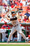 30 June 2005: David Ross, catcher for the Pittsburgh Pirates, at bat during a game against the Washington Nationals. The Nationals defeated the Pirates 7-5 to sweep the 3-game series at RFK Stadium in Washington, DC.  Mandatory Photo Credit: Ed Wolfstein