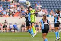 Chicago, IL - Sunday Sept. 04, 2016: Vanessa DiBernardo, Keelin Winters during a regular season National Women's Soccer League (NWSL) match between the Chicago Red Stars and Seattle Reign FC at Toyota Park.