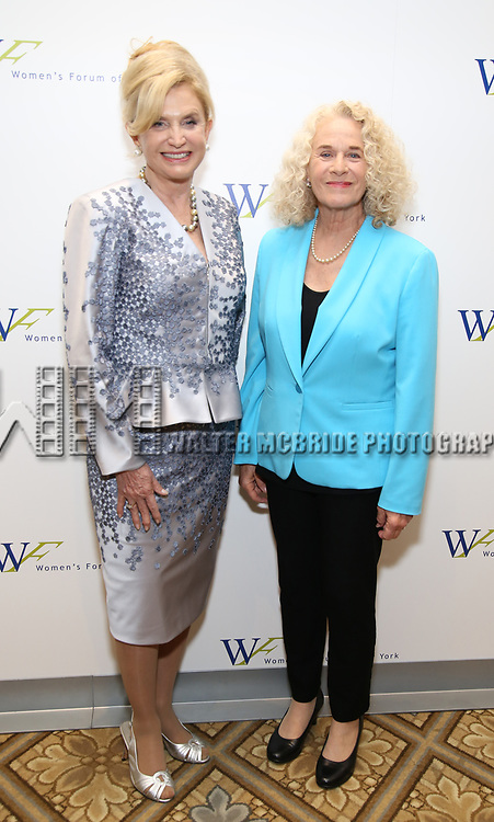 Carolyn B. Maloney and Carole King attends The 7th Annual Elly Awards at The Plaza Hotel on June 19, 2017 in New York City.