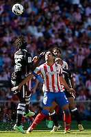 Atletico's Falcao and Granada's Diakhate during La Liga BBVA match. April 14, 2013.(ALTERPHOTOS/Alconada)