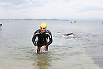 "Aaron McCourt at the Clogherhead ""Round the Head Swim""....(Photo credit should read Jenny Matthews/NEWSFILE)..."