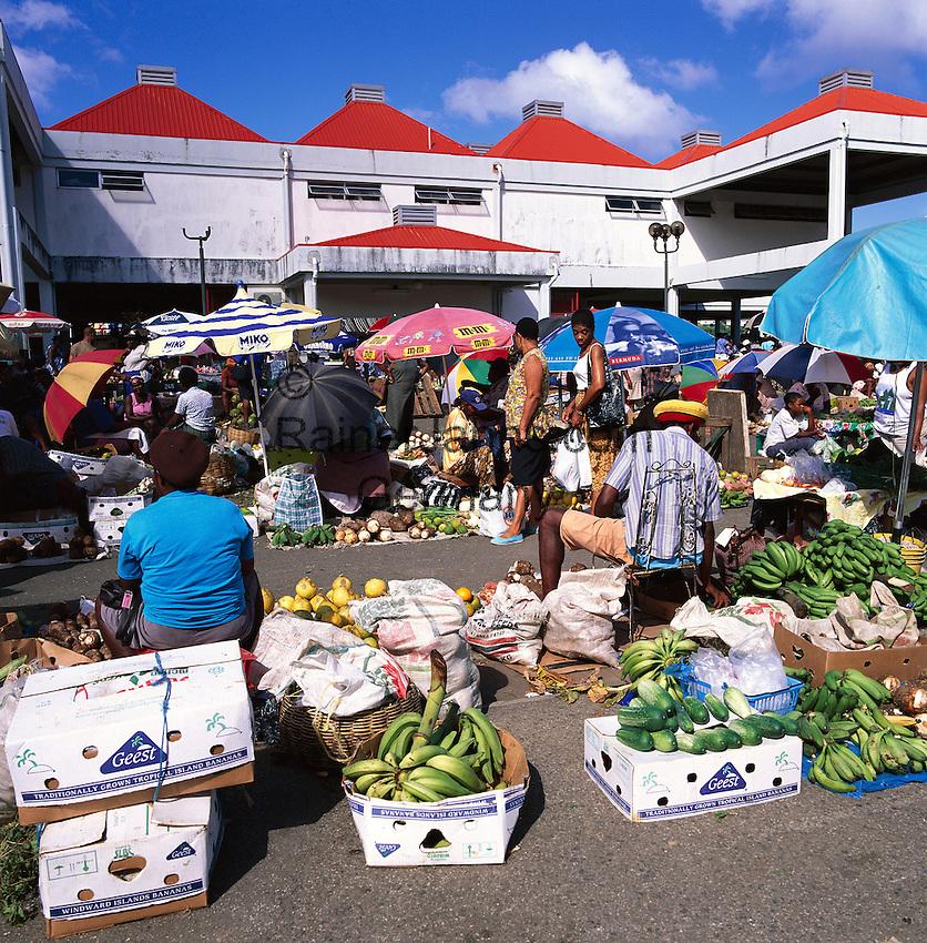 Caribbean, Lesser Antilles, Saint Lucia, Castries: Saturday Morning Market | Karibik, Kleine Antillen, Saint Lucia, Castries: Samstag ist Markttag