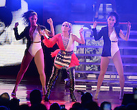 MIAMI FL - OCTOBER 29: Jennifer Lopez performs during the Gets Loud for Hillary Clinton at GOTV Concert at The Bayfront Park Amphitheatre on October 29, 2016 in Miami, Florida. Credit: mpi04/MediaPunch